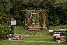 Ceremonia colorida - pompones de colores - cintas de colores