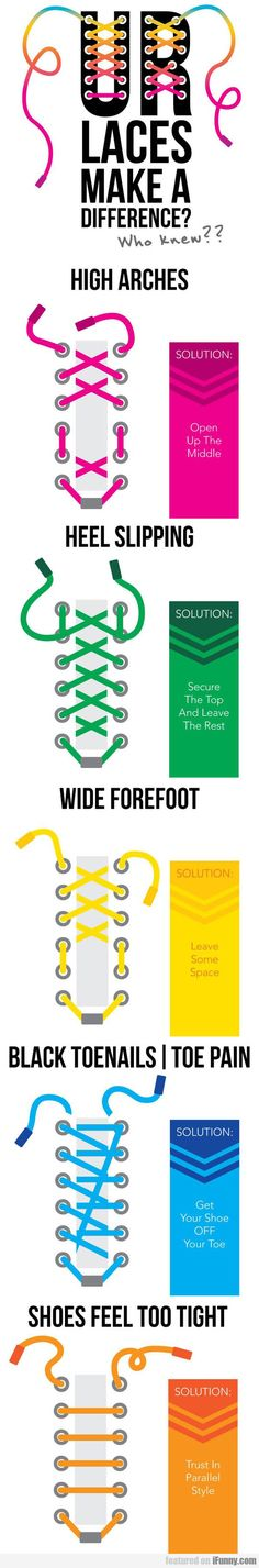 The best DIY projects & DIY ideas and tutorials: sewing, paper craft, DIY. Ideas About DIY Life Hacks & Crafts 2017 / 2018 How To Lace Your Shoes To Improve Foot Comfort -Read