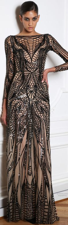 Zuhair Murad - <~~~ cool dress but I would prefer the black beading/sequence in white/gold combo