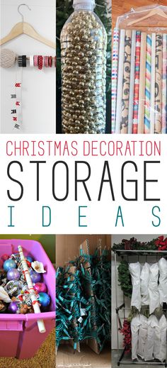 Well my friends…the Holiday Season might not be over yet…but I thought this was the perfect time to share some Christmas Decorate Storage Ideas.  You will soon be packing up all of your precious and pretty decorations for a celebration next year and I am sure you want them all to be organized and more …