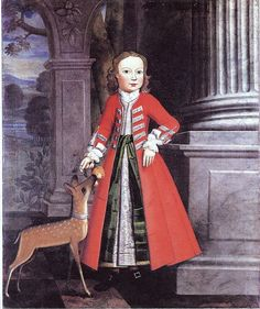 1745 Artist Frederick Tellschaw. Thomas Lodge with deer.