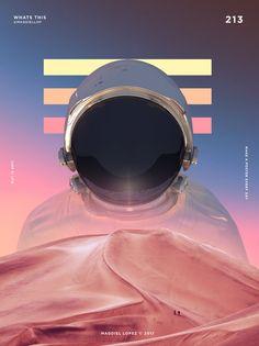 Um poster por dia - O incrível projeto de Magdiel Lopez Web Design, Layout Design, Design Trends, Design Art, Magdiel Lopez, Flyer Poster, Posters Conception Graphique, Space Artwork, Space Odity