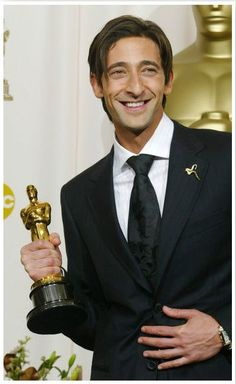 Adrien Brody at the Academy Awards 2002