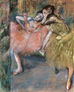 Edgar Degas | Two dancers by a hearth, 1901