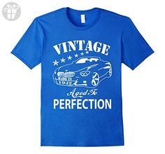 Mens 74 Birthday Vintage Made in 1943 Gift ideas Man T shirt 2XL Royal Blue - Birthday shirts (*Amazon Partner-Link)