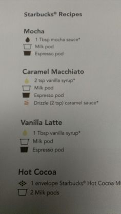 Starbucks Recipes - tall skinny vanilla latte = 100 cals
