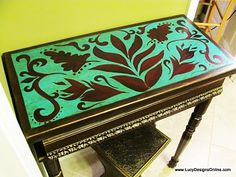 I want to redo my endtables from grandma. This might be a good way to go!