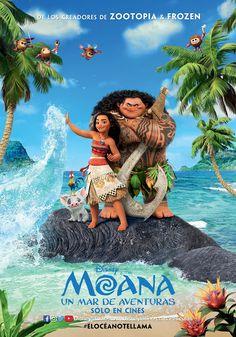 """DISNEY nos presenta su nueva película animada, otra de las mas esperadas del año, la llegada de una nueva princesa llamada: """"Moana""""."""