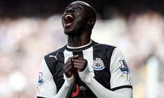 The Newcastle striker Papiss Cissé has agreed to wear the logo of sponsor Wonga on his shirt Stand Down, Newcastle, The Row, Football, How To Wear, Fictional Characters, Soccer, American Football, Soccer Ball