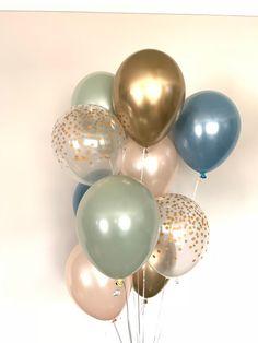 Balloon Arch Diy, Balloon Bouquet, Balloon Garland, Its A Boy Balloons, Blue Balloons, Baby Shower Balloons, Hen Party Decorations, Bridal Shower Decorations, Blue Bridal