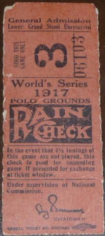 1917 World Series Gm 3 White Sox at Giants