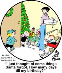 Family Circus Cartoon for Dec/26/2012