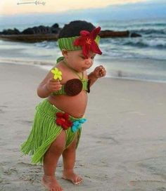 Crochet Hula Costume Baby Hula Skirt Crochet Baby by jackcosmo : baby hula girl costume  - Germanpascual.Com