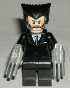 LEGO Marvel Wolverine Custom Super Hero Minifigure with Black Suit