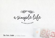 Hand Drawn Style Handwriting Logo - blog logo, photography logo, restaurant branding, website logo, boutique logo, creative business branding or small business logo.