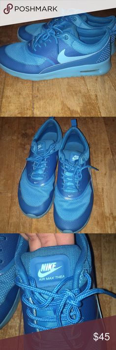 Nike Air Max Thea Nike Air Max Thea, blue, size 8, worn only a few times! Nike Shoes Athletic Shoes