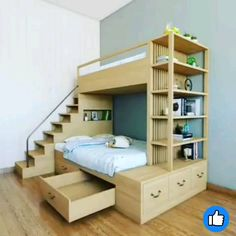 40 Fascinating Kids Bedroom Design Ideas For Your Kids - Your kid is a special human being to you and therefore you should ensure that your kids bedroom designs are also that much special. We all adore our k. Loft Beds For Small Rooms, Bed For Girls Room, Small Room Bedroom, Small Childrens Bedroom Ideas, Bedroom For Kids, Room For Two Kids, Kids Beds For Boys, Kids Beds With Storage, Bunk Beds For Boys Room