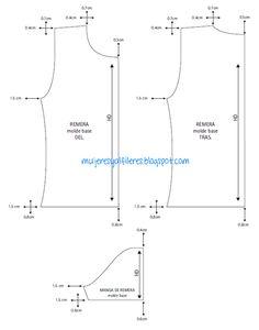 Mujeres y alfileres: Progresiones de remera básica de manga corta para ...