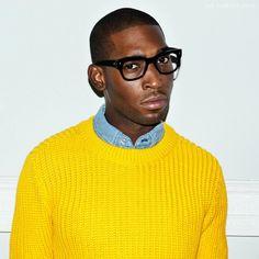 Tinie Tempah - Yellow jumper...Vintage Blue denim shirt #Result