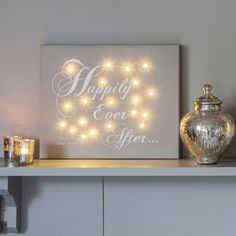 I Just Love It Happily Ever After Personalised Canvas Happily Ever After Personalised Canvas - Gift Details. Tied the knot? About to pop the question? Say it with this canvas ? a keepsake that?ll last a lifetime. Everyone loves fairy lights so why save  http://www.MightGet.com/january-2017-11/i-just-love-it-happily-ever-after-personalised-canvas.asp