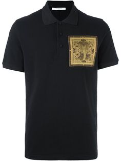 GIVENCHY Cobra Patch Polo Shirt. #givenchy #cloth #shirt