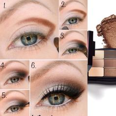 Mary Kay's Bare Palette eye shadows would be PERFECT to do this Top Inspired eye makeup tutorial! #loveyoureyemakeup #gorgeous marykay.com