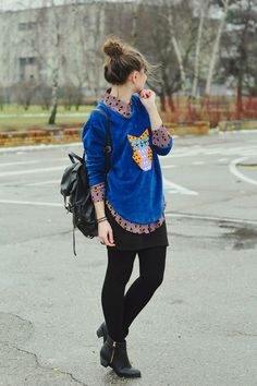 Hipster Style. I wish I was cool enough to pull this off.