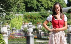 Pippa Middleton at the Mirabell Palace and gardens built in 1606.