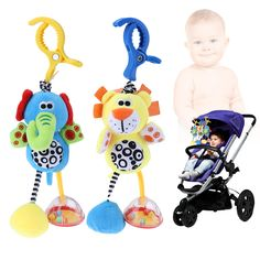 Helpful Baby Stroller Pendant Plush Fish Cartoon Mirror Pacifier Hanging Bed Cute Toys Soft Squeaky Rattle Newborn Sleeping Infant Kids Activity & Gear