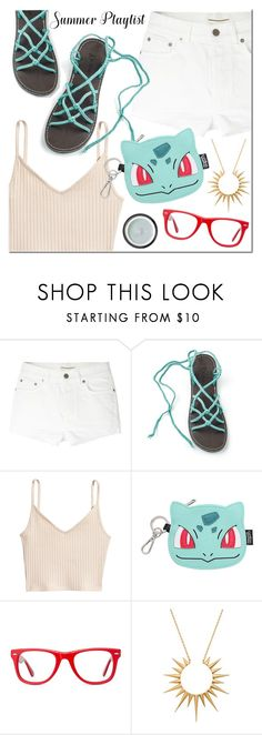"""Heat wave with Plaka Sandals"" by mada-malureanu ❤ liked on Polyvore featuring Yves Saint Laurent, Loungefly, Muse, Celine Daoust, Sunday Riley, sandals, summerstyle, heatwave and plakasandals"