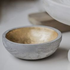 Concrete And Gold Bowl - minimal home