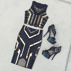 Imagen de fashion, black, and dress