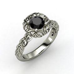 The Catalina Ring #customizable #jewelry #blackdiamond #sapphire #palladium #ring