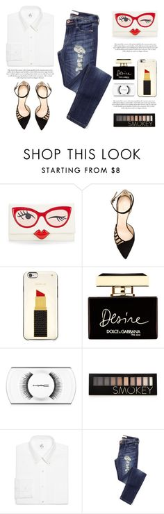 """""""..."""" by yexyka ❤ liked on Polyvore featuring Kate Spade, Chloe Gosselin, Dolce&Gabbana, MAC Cosmetics, Forever 21 and Brooks Brothers"""