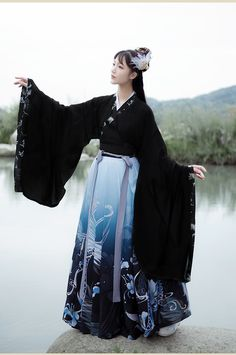 Traditional Japanese Kimono, Traditional Fashion, Traditional Dresses, Chinese Clothing Traditional, Japanese Outfits, Japanese Fashion, Asian Fashion, Pretty Outfits, Cute Outfits