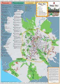 Rome Biking Map - Rome Italy • mappery