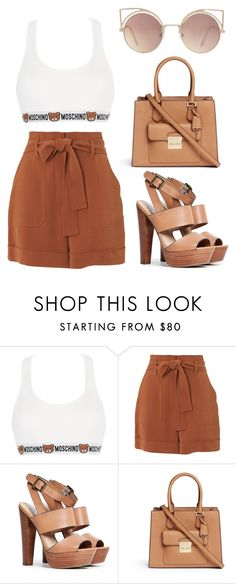 """""""Sem título #2757"""" by michele-96 ❤ liked on Polyvore featuring Moschino, Whistles, Steve Madden, Michael Kors and MANGO"""