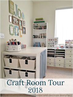 Craft Room Guest Room Tour 2018 Organize and decorate everything - Room Decor Craft Room Design, Craft Room Decor, Craft Room Storage, Home Decor, Craft Desk, Room Decorations, Craft Room Ideas On A Budget, Small Craft Rooms, Budget Organization