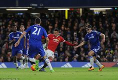Manchester united midfielder Jesse Lingard opened the scoring after a stunning turn and shot in the Chelsea penalty area
