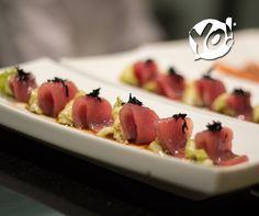 Zukkini to Maguro - Sashimi de atum com finas fatias de abobrinha e molho cítrico - TokYo! Restaurante Café Londrina #soutokyo #restaurante #japones #londrina #rodizio #japanese #food #chef #adriano #kanashiro #cooking