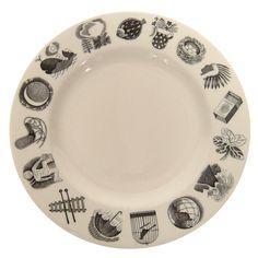Eric Ravilious Alphabet Plate   1stdibs.com