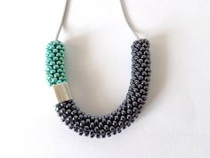 Mint necklace/Rope Jewelry/Minimalist necklace/Beaded by Luthopika