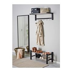 IKEA - TJUSIG, Shoe rack, black, , If you need more storage space for your shoes, simply stack one shoe rack on top of another.
