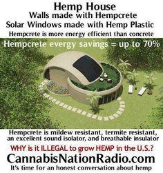 House made of hemp: Enviro friendly, energy saving and. Go Hemp! Ganja, Save Our Earth, Tadelakt, Natural Building, Earthship, Back To Nature, Save Nature, Medical Marijuana, Cob Houses