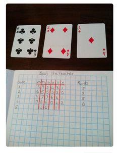 """Altijd leuk! :-) De leerkracht """"trekt"""" éen voor één een speelkaart en laat die zien. De kinderen mogen kiezen in welke rij ze het getal ..."""