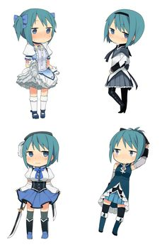 Sayaka in other costumes