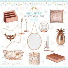 Rose gold...Gift Guide 2015
