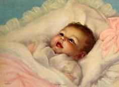 """Adelaide Hiebel (1886 – 1968, American) We had this with the poem """"Where did you come from, Baby-dear?"""""""