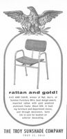 Troy Sunshade Company Arm Chair 1956 Ad Picture