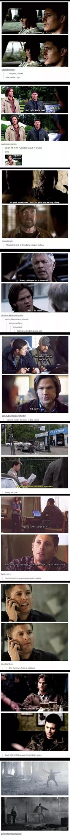 oh so supernatural.... pardon the language